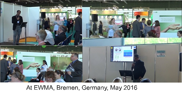 At EWMA, Bremen 2016